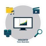 Conception de centre de traitement des données Photographie stock libre de droits