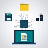 Conception de centre de traitement des données Image libre de droits