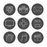 Conception de centre de traitement des données Photo stock