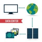 Conception de centre de traitement des données Photos libres de droits