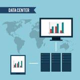 Conception de centre de traitement des données Photo libre de droits