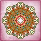 Conception de cercle de fleur sur le fond grunge avec Photo stock