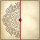 Conception de cercle de fleur sur le fond grunge avec Image stock