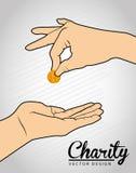 Conception de charité Images libres de droits