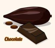 Conception de chocolat Photographie stock libre de droits
