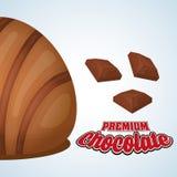 Conception de chocolat Graphisme doux Concept de dessert Photographie stock