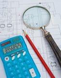 Conception de circuit électronique. Photographie stock