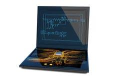 Conception de circuit Images stock