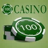 Conception de circuit intégré de casino Photo stock