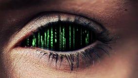 Conception de code de technologie dans l'oeil humain banque de vidéos