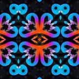 Conception de coeur d'inspiration de flamant avec des couleurs bleu-clair illustration de vecteur