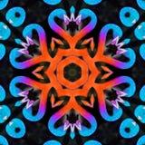 Conception de coeur d'inspiration de flamant avec des couleurs bleu-clair illustration libre de droits