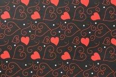 Conception de coeur de Swirly de vintage Photographie stock