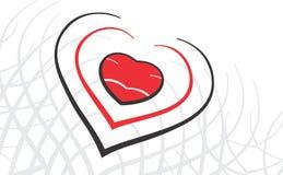 Conception de coeur de Valentine Photo libre de droits