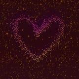 Conception de coeur de relief par scintillement Illustration de thème de Saint-Valentin illustration stock