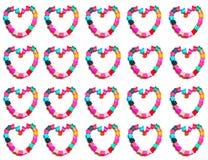Conception de coeur sur le fond blanc image libre de droits