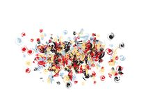 Conception de confettis d'art de bruit illustration stock