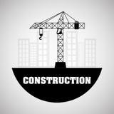 Conception de construction Crane Icon réparez le concept, illustration de vecteur Images stock