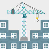 Conception de construction Crane Icon réparez le concept, illustration de vecteur Photo stock