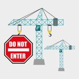 Conception de construction Crane Icon réparez le concept, illustration de vecteur Image stock