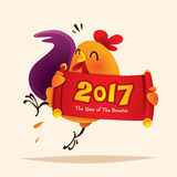 conception de coq Nouvelle année chinoise 2017 Image stock