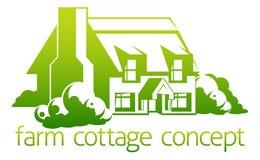 Conception de cottage de ferme illustration de vecteur