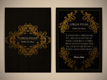 Conception de couverture avec le cadre ornemental Rétro type cru Décoration fleurie Photo stock