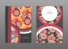 Conception de couverture Calibres avec des formes rondes colorées Configuration abstraite Cercles plats Image libre de droits