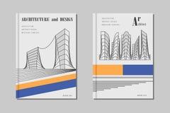 Conception de couverture d'architecture Photos libres de droits