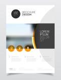Conception de couverture de catalogue Templa d'illustration de vecteur de rapport annuel  Images stock