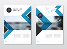 Conception de couverture de catalogue Templa d'illustration de vecteur de rapport annuel  Photos libres de droits