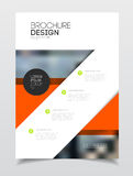 Conception de couverture de catalogue Templa d'illustration de vecteur de rapport annuel  Photos stock