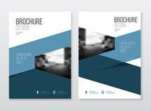 Conception de couverture de catalogue Templa d'illustration de vecteur de rapport annuel  Photographie stock