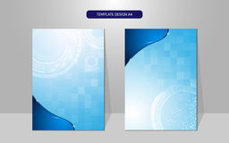 Conception de couverture de concept de technologie de modèle de rectangle de fond de vecteur Photo stock