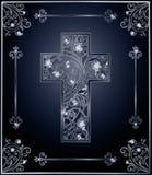 Conception de couverture de croix de Diamond Easter Photographie stock libre de droits