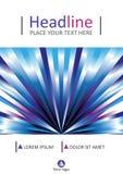 Conception de couverture de livre dans les lignes bleues Taille A4 Vecteur Images stock