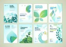 Conception de couverture de nature et de brochure de produits de soins de santé et collection de calibres de disposition d'insect illustration libre de droits