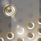 Conception de couverture de vecteur avec des trous en métal Images libres de droits
