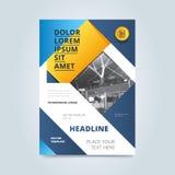 Conception de couverture pour le rapport annuel ou la brochure Photographie stock libre de droits