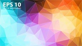 Conception de couvertures de mosaïque de couleur Gradients géométriques minimaux de modèle illustration de vecteur