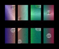 Conception de couvertures de résumé Calibre géométrique minimaliste Illustration de vecteur ENV 10 illustration libre de droits