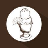 Conception de crème glacée  Photo stock