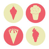 Conception de crème glacée  Photographie stock