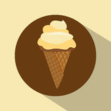 Conception de crème glacée  Images stock