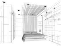 Meubles de chambre coucher illustration editable d 39 un - Croquis chambre a coucher ...