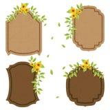 Conception de cru avec des fleurs Image stock