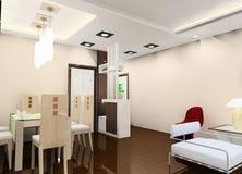 Conception de cuisine et de couloir Image stock