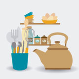 Conception de cuisine, illustration de vecteur Photo stock