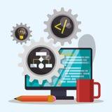 Conception de développeur web Image libre de droits