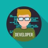 Conception de développeur web illustration stock